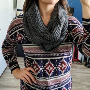 Target Gray Infinity Scarf OS